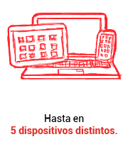 Conéctate hasta con 5 dispositivos con Claro video Colombia